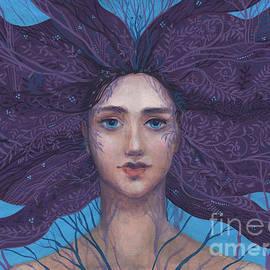 Primavera, spring goddess, imaginary portrait by Julia Khoroshikh
