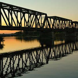 Prince Of Wales Bridge At Sunset. by Rob Huntley