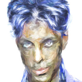 Prince Rogers Nelson Digital Painting Portrait by David Haskett II