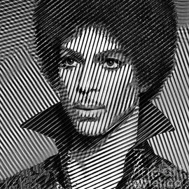 Prince - Tribute In Black And White Sketch by Rafael Salazar