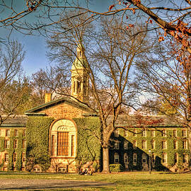 Princeton University Ivy covered building in autumn by Geraldine Scull