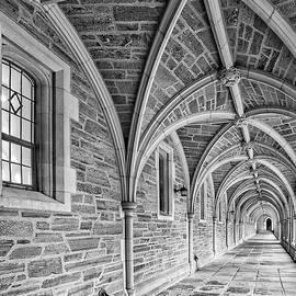 Susan Candelario - Princeton University Hallway BW