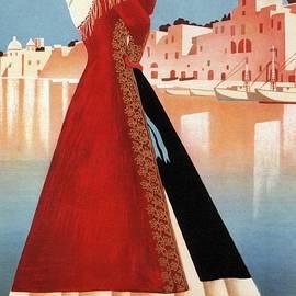Procida, Coast of Naples, Italy - Retro travel Poster - Vintage Poster - Studio Grafiikka