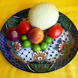 Produce on Talavera Plate by Barbie Corbett-Newmin