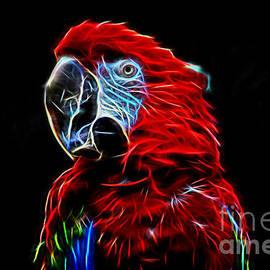 Jim Fitzpatrick - Profile Portrait of a Parrot IV glow version