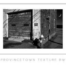 Mike Nellums - Provincetown Texture BW poster