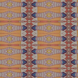 Psychedelic 1 20 17 by Modern Metro Patterns and Textiles