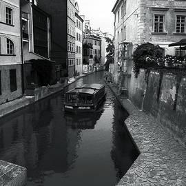 C H Apperson - Prague Canal BW