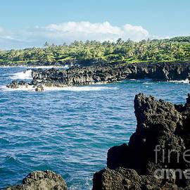 Pukaulua Point Waianapanapa North Pacific Ocean Hana Maui Hawaii by Sharon Mau