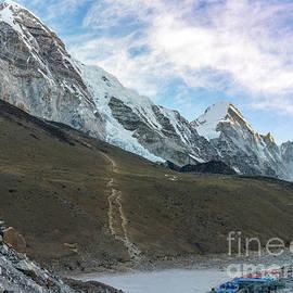 Pumori Peak Above Kalla Patthar and Gorak Shep by Mike Reid