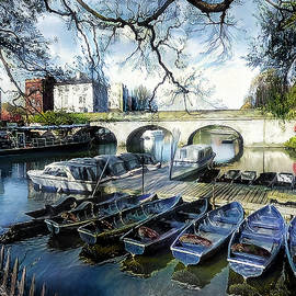 Punting on the Thames by Pennie McCracken - Endless Skys