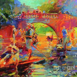 Peter Graham - Punts, Clare Bridge