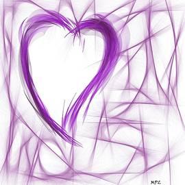 Marian Palucci-Lonzetta - Purple Abstract Heart