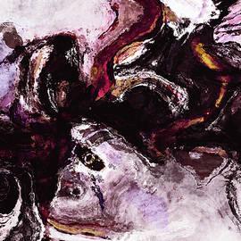 Ayse Deniz - Purple Abstract Painting / Surrealist Art