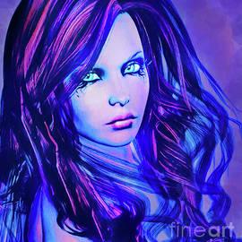 Alicia Hollinger - Purple Blue Portrait