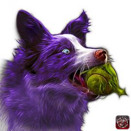Purple Border Collie - Elska -  9847 - Wb by James Ahn