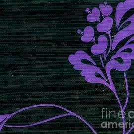 Purple Glamour On Black Weave by Writermore Arts
