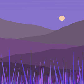 Purple Hills - Lavender Sky by Val Arie
