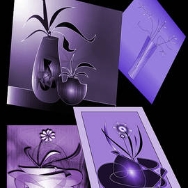 Purple House Plants by Iris Gelbart