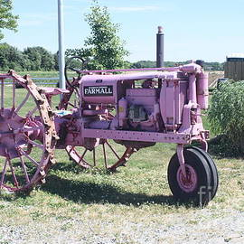 Purple Irrigation Tractor by John Telfer