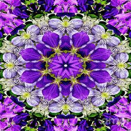 Purple Passion Floral Design by Carol F Austin