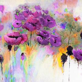 Lisa Kaiser - Purple Poppy Passion Painting