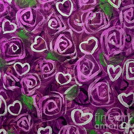 Jackie Carpenter - Purple Roses and Hearts