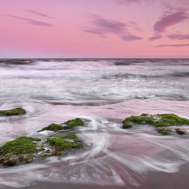 Purple sunset at the beach. Marbella.  by Guido Montanes Castillo