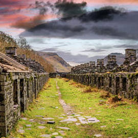 Quarry Sunset Snowdonia by Adrian Evans