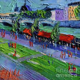 Mona Edulesco - QUAYS OF THE RHONE - modern impressionist stylized cityscape