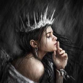 Justin Gedak - Queen of Secrets Gothic Fantasy Portrait Painting of a Fairy Queen