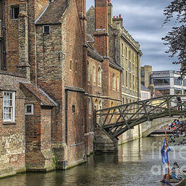 Queens college and mathematical bridge by Patricia Hofmeester