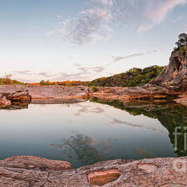 Quiet Contemplation at Pedernales Falls State Park - Johnson City Texas Hill Country  by Silvio Ligutti