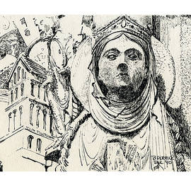 Quite A Lady At Chartres France by Betsy Derrick