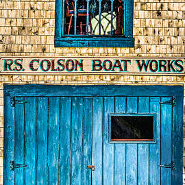 R S Colson Boat Works 2 by Marty Saccone