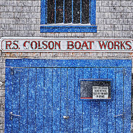 R S Colson Boat Works 3 by Marty Saccone