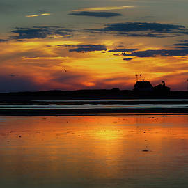 Race Point Light Sunset 2018 by Bill Wakeley