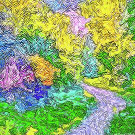 Radiant Garden Pathway - Trail Through Santa Monica Mountains by Joel Bruce Wallach