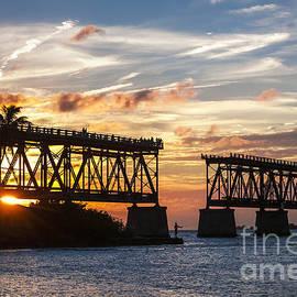 Rail bridge at Florida Keys by Elena Elisseeva