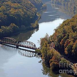 Steve Gass - Railroad Bridge At Hawks Nest West Virgina