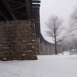Bill Cannon - Railroad Bridge in East Falls Philadelphia in Winter