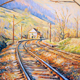 Dusan Balara - Railway Station - Spring Colors