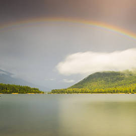 Rainbow Across the Lake by Joy McAdams