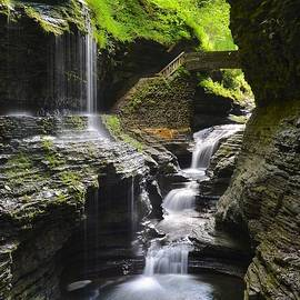 Rainbow Falls of Watkins Glen by Frozen in Time Fine Art Photography