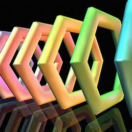 Rainbow Hexagons by Derek Gedney