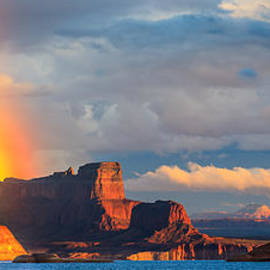 Henk Meijer Photography - Rainbow in the Padre Bay, Lake Powell