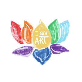 Rainbow Lotus I Am Art- Art By Linda Woods by Linda Woods
