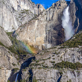 Bill Gallagher - Rainbow Mist at Yosemite Falls