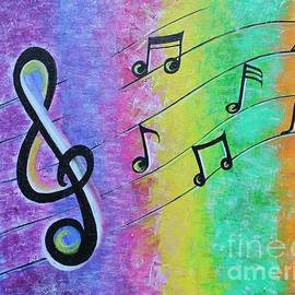 Rainbow Music Notes  by Dhanashree Mahesh