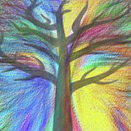 Kaye Menner - Rainbow Tree by Kaye Menner
